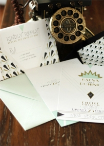 Art Deco Invitation Suite