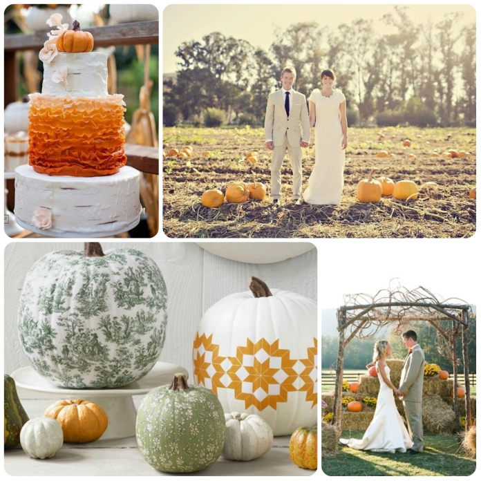 pumpkin orange collage