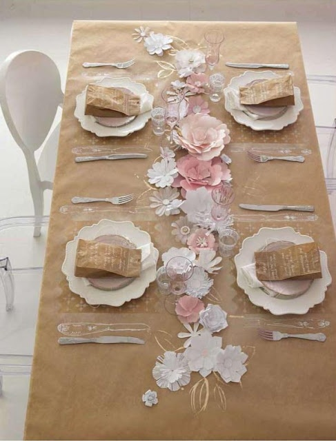 kraft table runner